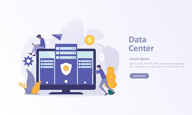 Landing page template of big data with cloud database
