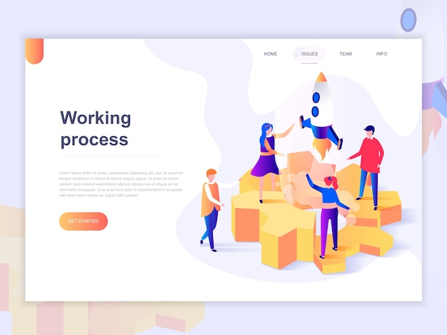 Landing page template of business processes