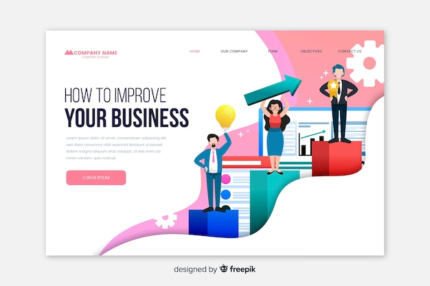 Landing page template for business