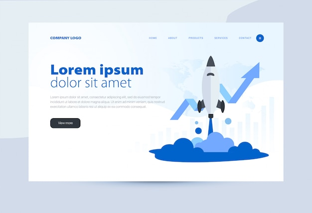 Landing page template business