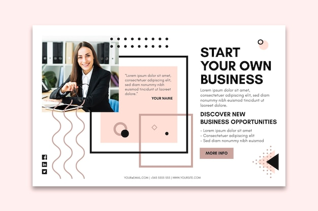 Landing page template for businesswoman