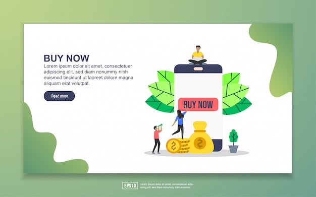 Landing page template of buy now