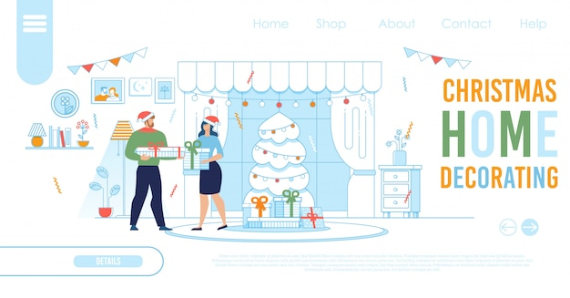 Landing page template for christmas online shopping