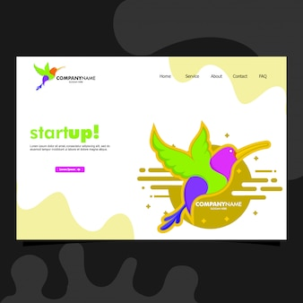 Landing page template colorful