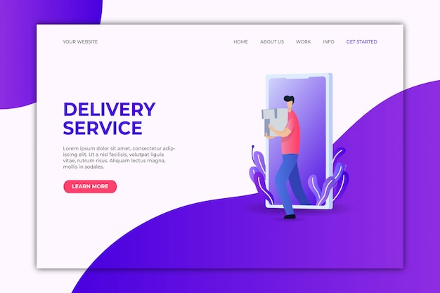 Landing page template delivery service.