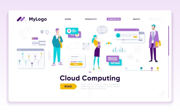 Landing page template of digital marketing analyst
