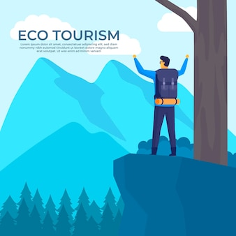 Landing page template eco tourism