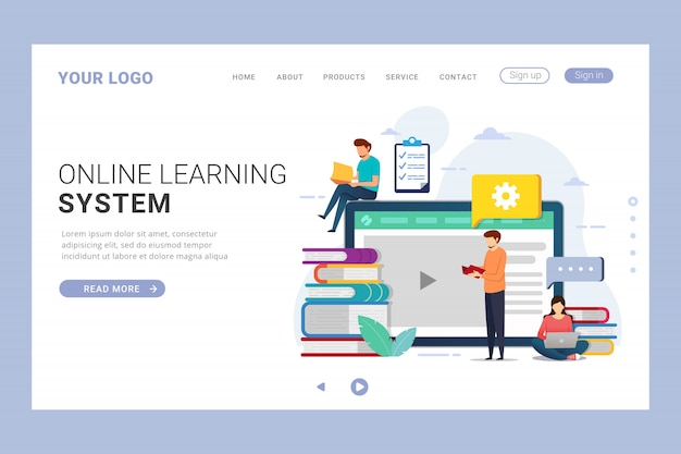 Landing page template education