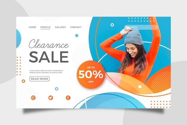 Landing page template for fashion sale