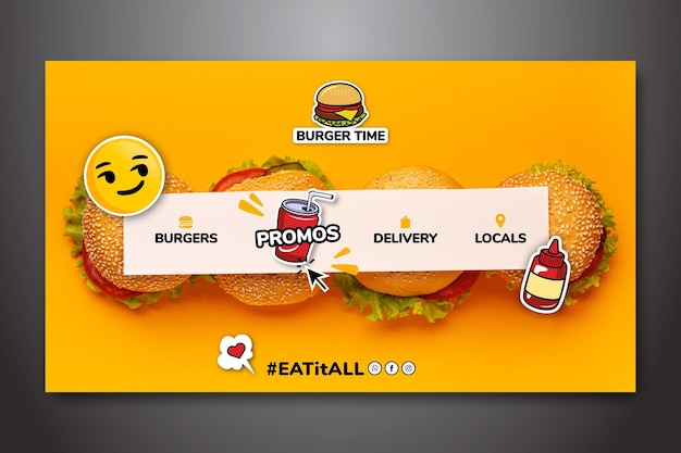Landing page template for fast food