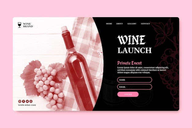 ワインテイスティングのランディングページテンプレート