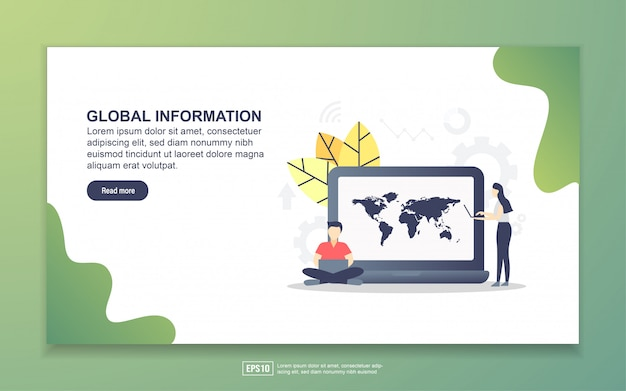 Landing page template of global information