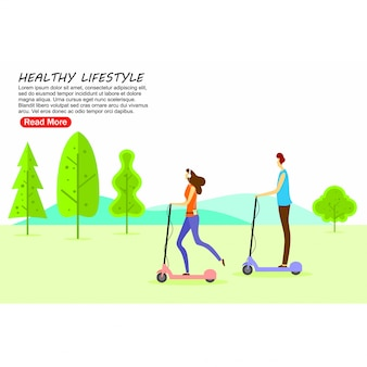 Landing page template healthy lifestyle