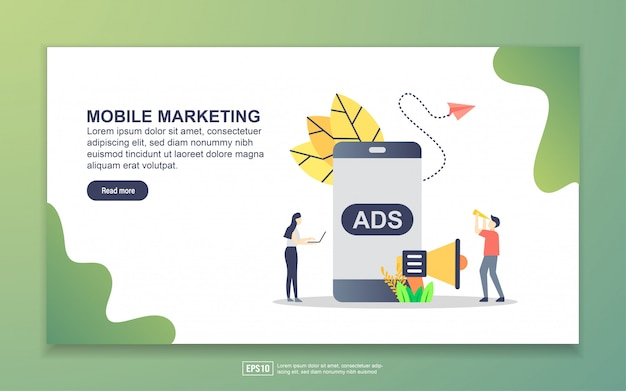 Landing page template of mobile marketing