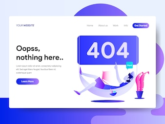 Landing page template of 404 Error