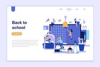Landing page template of back to school