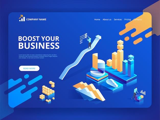 Шаблон целевой страницы для развития вашего бизнеса.