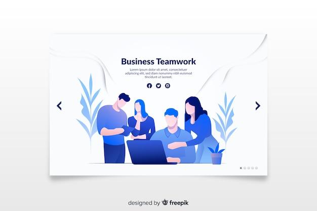 Шаблон целевой страницы бизнеса