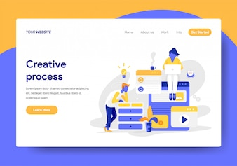 Landing page template of Creative Process Illustration