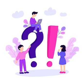 Шаблон целевой страницы концепции часто задаваемых вопросов.