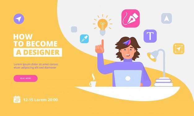 Шаблон целевой страницы графического дизайнера