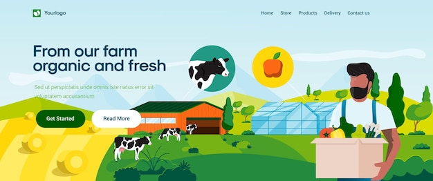 Organicfarmのランディングページテンプレート