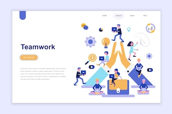 Landing page template of teamwork