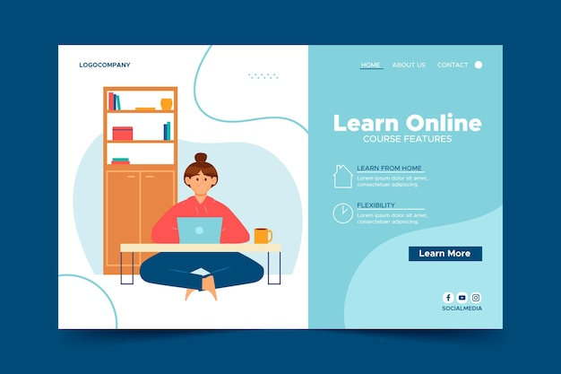 Landing page template for online lessons