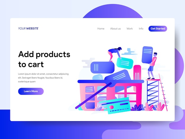 Landing page template of online shopping
