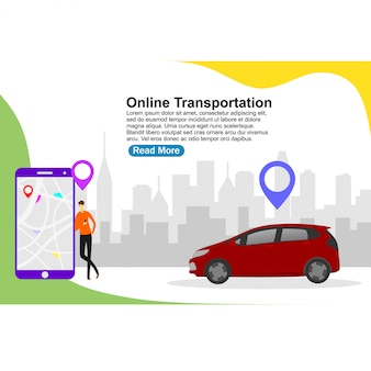 Landing page template online transportation