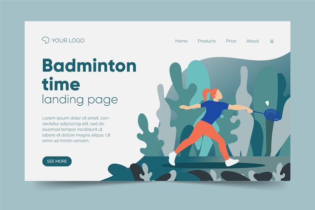 Landing page template outdoor sport