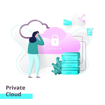 Landing page template of private cloud.
