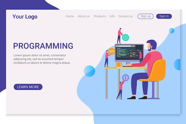 Landing page template programming