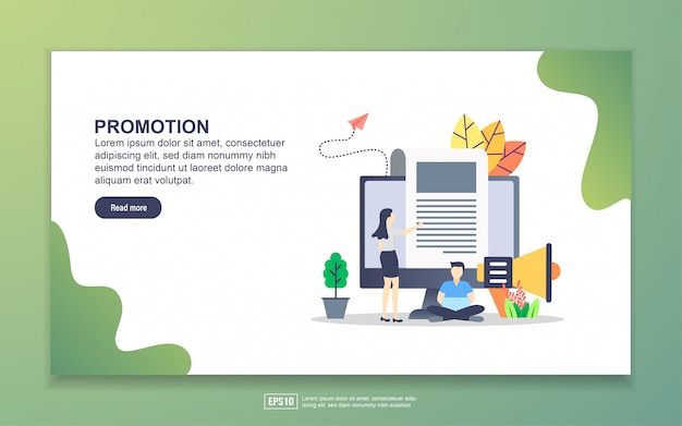 Landing page template of promotion