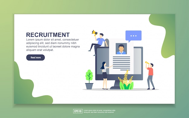 Landing page template of recruitment