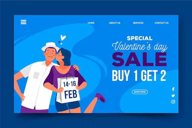 Landing page template for sales