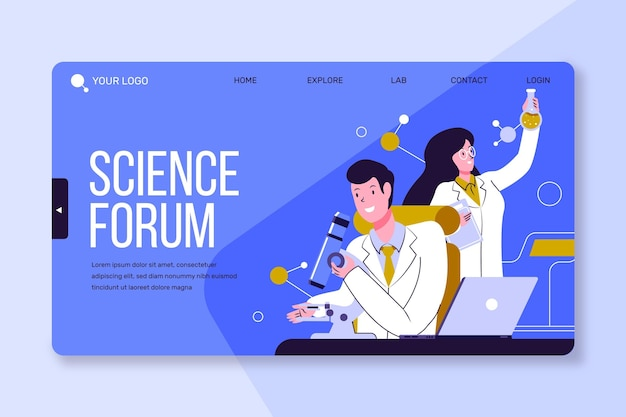 Landing page template scientific research