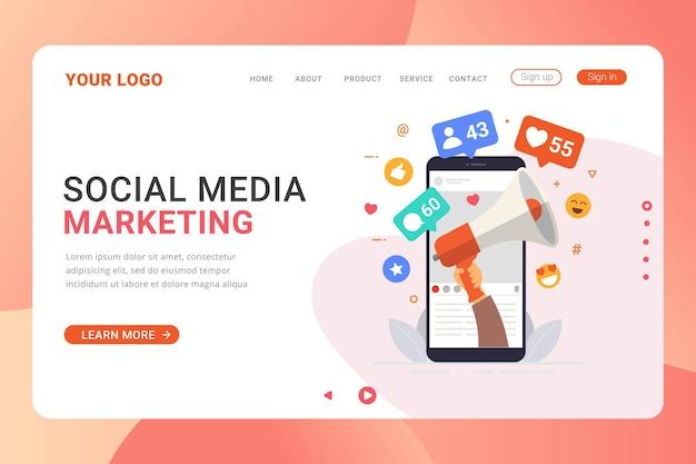 Концепция дизайна целевой страницы в социальных сетях