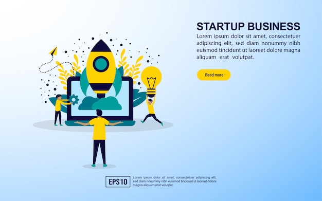 Landing page template. startup business
