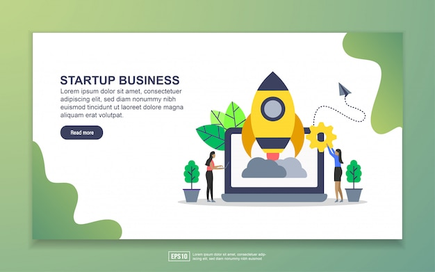 Landing page template of startup business