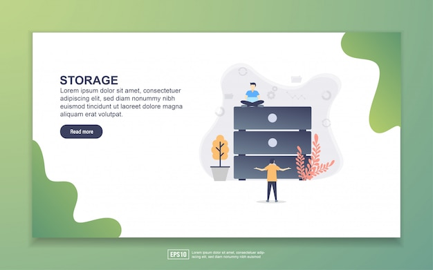 Landing page template of storage
