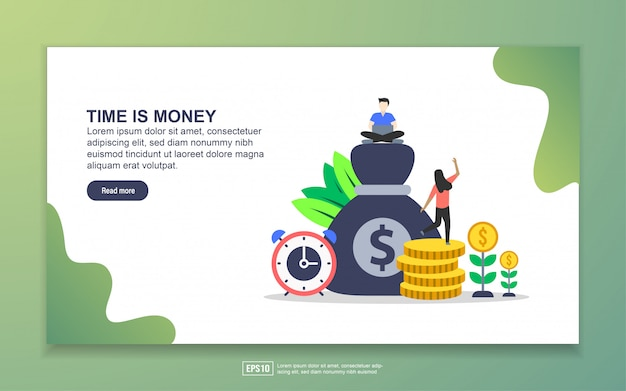 Landing page template of time is money