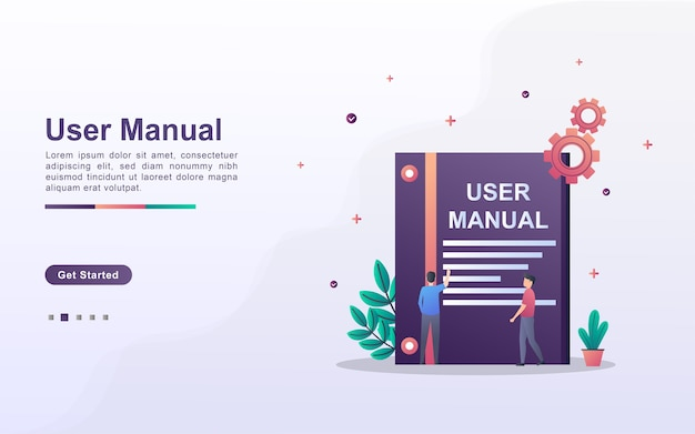Landing page template of user manual