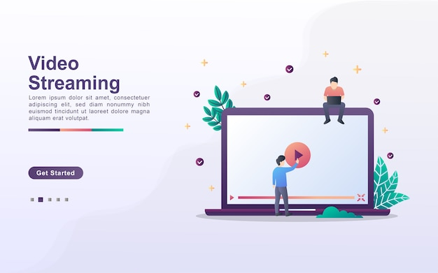 Landing page template of video streaming