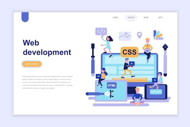 Landing page template of web development