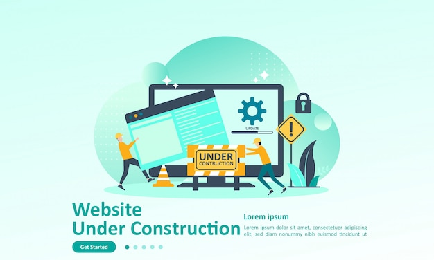 Landing page template of website developer