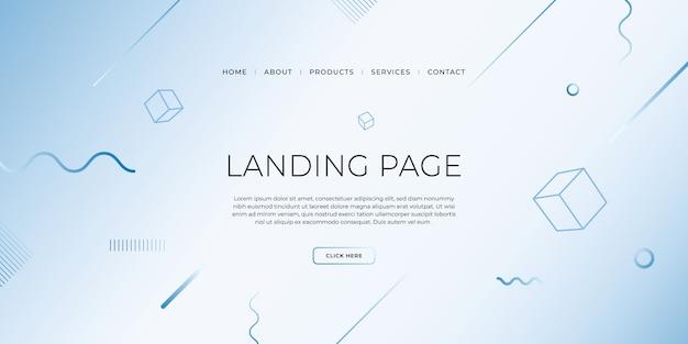 비즈니스 웹 사이트 디자인을위한 기하학적 디자인으로 방문 페이지 템플릿.