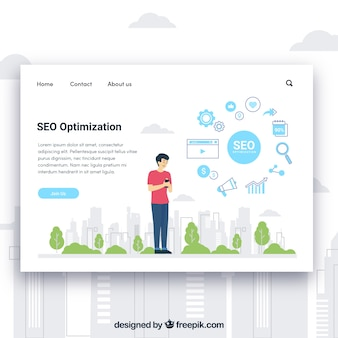 Landing page template with seo concept