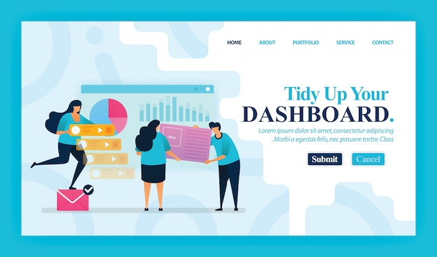 Landing page of tidy up your dashboard