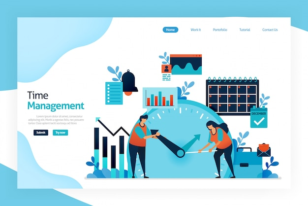 Landing page of time management